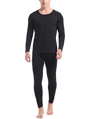 Amorbella Mens Ultra Soft Thermal Underwear Set Cotton Long Johns Base Layer Fleece Lined S-XXL