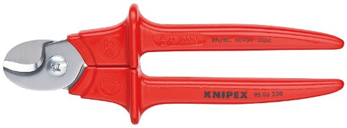 KNIPEX 95 06 230 1,000V Insulated Cable Shears