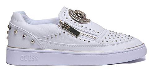 e7950efc4046 White Sans Sneakers Chaussures Femme Guess Lacets Fl5beelea12 qw8BCY
