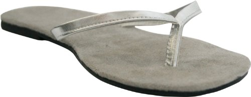 DAWGS Womens Bendable Flip Flops Silver