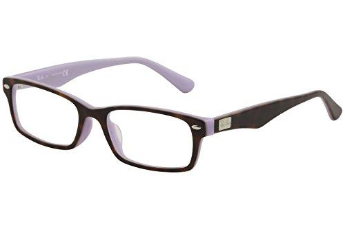 Ray-Ban Men's RX5206F Eyeglasses Top Havana On Opal Violet - Rx Frames Ray Ban
