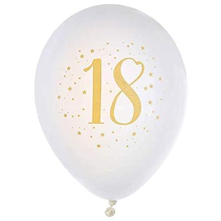 R/6571-8 - Globos de cumpleaños de 18 años, Color Blanco y ...