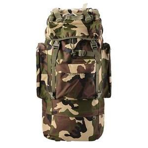 80L Military Tactical Army Backpack Rucksack Camping Hiking Trekking Bag Outdoor