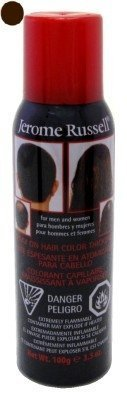 Jerome Russell Spray-On Color Dark Brwn Hair Thickener 3.5oz (6 Pack) by Jerome Russell