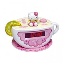 Hello Kitty Digital Clock Radio with AM/FM Radio and Night Light
