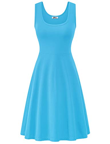 Herou Beach Midi Dress for Women Casual Light Blue -