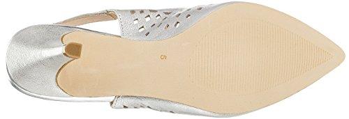 Metal Caviglia Donna 920 alla Sandali Cinturino con Silver Argento 29612 Caprice nBqzXX