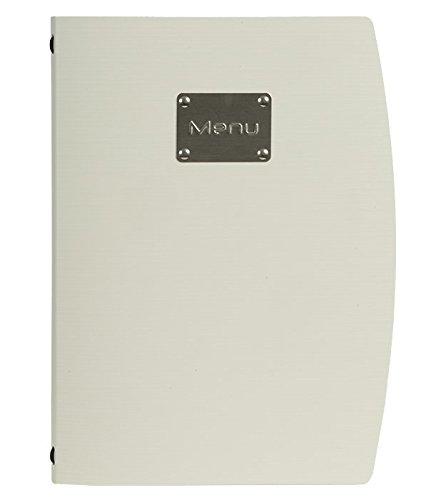 color blanco /R/ío men/ú Securit/ A4, con dise/ño de la horquilla de y 1/inserci/ón doble