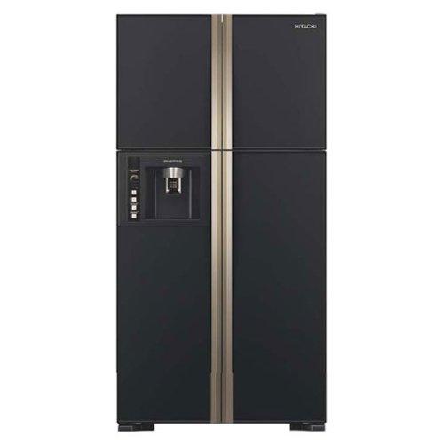 Hitachi 638 L Frost Free Side by Side Refrigerator R W720FPND1X, Black, Inverter Compressor  Refrigerators