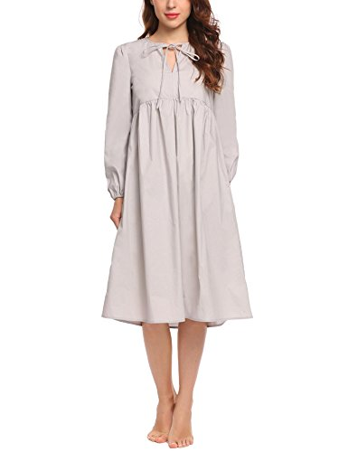 Old Fashioned Fabric (Acecor Seersucker Robe, Long Coverup with Soft Lightweight Fabric for Summer and Easy On Front Tie)