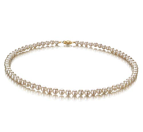 White 5-5.5mm AA Quality Freshwater Cultured Pearl Necklace for Women-16 in Chocker Length