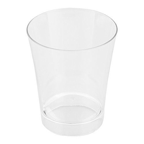 Clear Restaurantware Solid Plastic 100ct Box 6 oz Short Cylindro Cup Short Dessert Cup Short Appetizer Cup