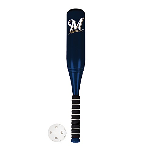 (Franklin Sports Milwaukee Brewers Jumbo Plastic Bat & Ball Set - 24