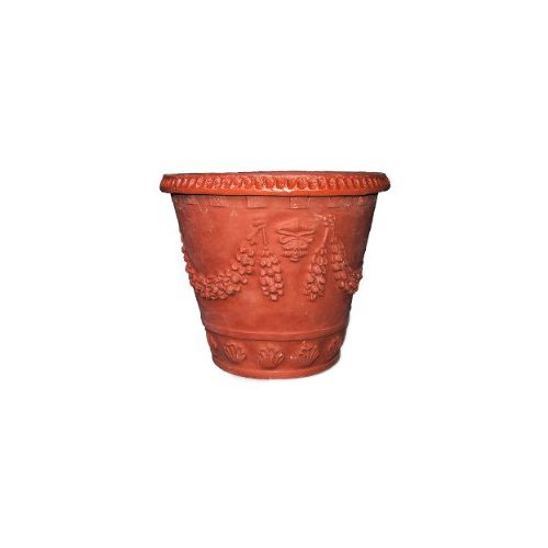 (Amedeo Design ResinStone 2508-2T Garland Seashell Planter, 20 by 20 by 16-Inch, Terra Cotta)