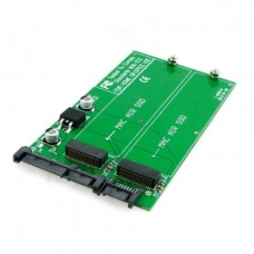 HDMIHOME Dual Card slots Apple MacBook Air SSD convert to SATA 22p Raid converter adapter