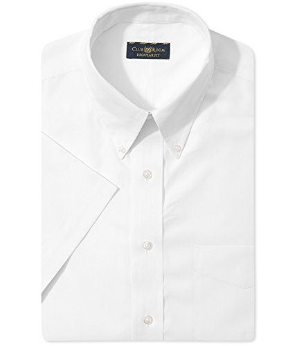 Club Room Mens Regular Fit Point Collar Dress Shirt White XL Club Room White Dress Shirt