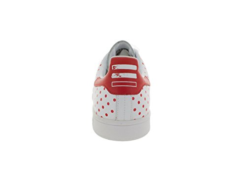 pictures cheap price discount finishline adidas Mens PW Stan Smith SPD Pharrel Williams White-Red-Blubir Leather Athletic Sneakers White/Red buy cheap 100% original clearance online ebay 1CiXaGHP