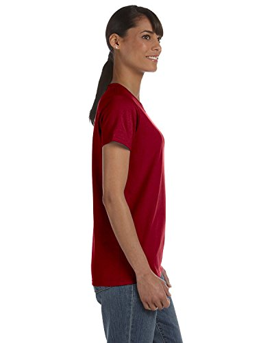 Ladies 5.3 oz. Missy Fit T-Shirt, 2XL, CARDINAL RED ()