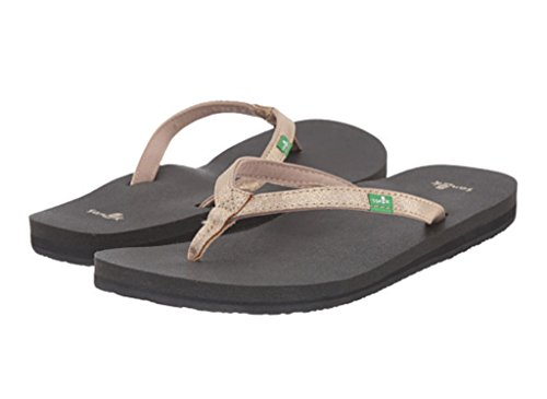 women s yoga joy metallic flip flop