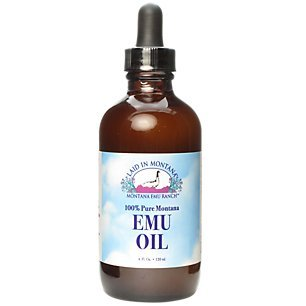 100% Pure Montana Emu Oil Montana Emu Ranch Co. 4 oz Liquid