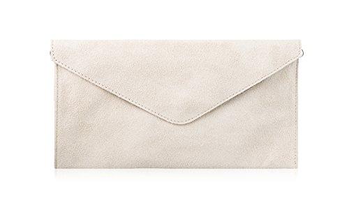 Cross Suede Wedding Bags Clutch Bag Italian Party Envelope Purse Leather Body Ivory Genuine Handbag w1vqUx