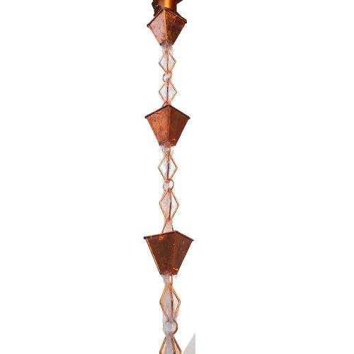 Monarch Pure Copper Heavy Duty Heirloom Rain Chain, 8-1/2-Feet (Japanese Rain Chains)
