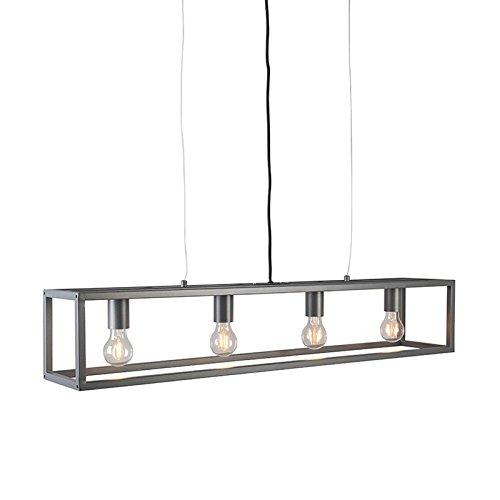 QAZQA Moderno Lámpara colgante moderna antracita - Jaula 4 ...
