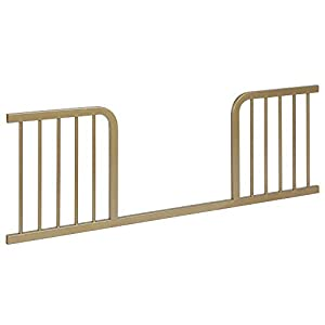 Baby Relax Juniper Metal Toddler Bed Guardrail, Champagne Gold