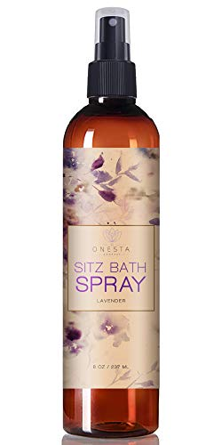 Postpartum Spray With Witch Hazel | Sitz Bath Herbal Perineal Care | Use Directly, In A Peri Bottle Or On Pads | With Aloe & Helichrysum Essential Oil | Speed Up Labor Recovery | 8 oz |Onesta Company (Best Witch Hazel Pads For After Birth)
