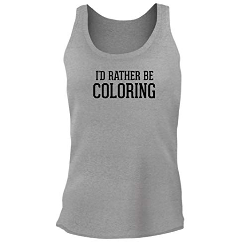 Tracy Gifts I'd Rather Be Coloring - Women's Junior Cut Adult Tank Top, Heather, Medium