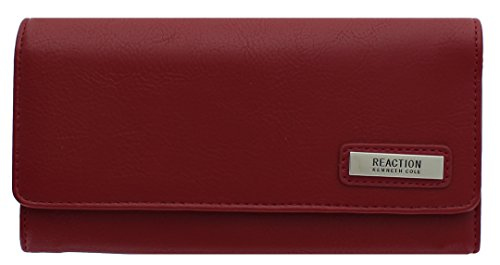 Kenneth Cole Reaction Women's Saffiano Tri Me A River Wallet (Buff Red)
