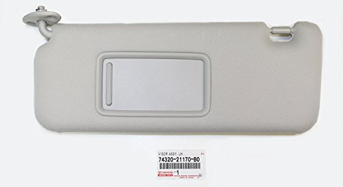 2007-2010 Toyota Scion TC Genuine Left Hand (Drivers) Grey Sunvisor 74320-21170-B0