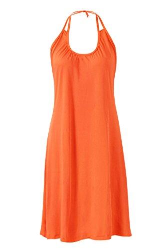 Howriis Couverture Dos Nu Féminin Ups Robes De Plage De L'orange