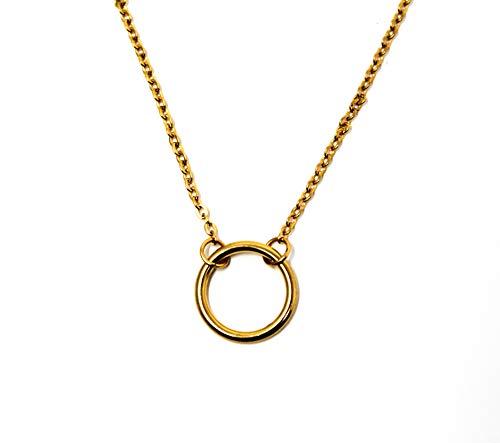 - Ello Elli Round Pendant Karma Necklace Stainless-Steel (Gold)