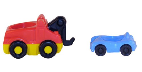 Fisher Price Little People Zoom Around Garage Tow Truck and Car ()