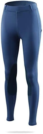 BALEAF Women's Horse Riding Pants Equestrian Breeches Tights Belt Loops Pockets Knee-Patch Active Legging