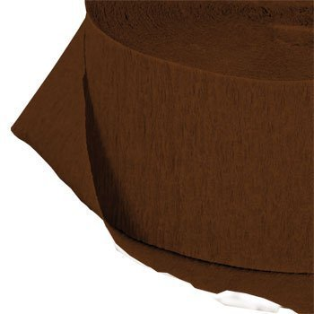 Chocolate Brown Crepe Paper Streamers, 2 ROLLS, 145 FT TOTAL, MADE IN USA!