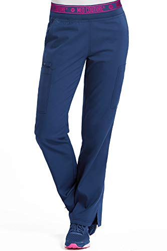 Med Couture Touch Women's Yoga 2 Cargo Pocket Scrub Pant, Navy, X-Small Tall from Med Couture
