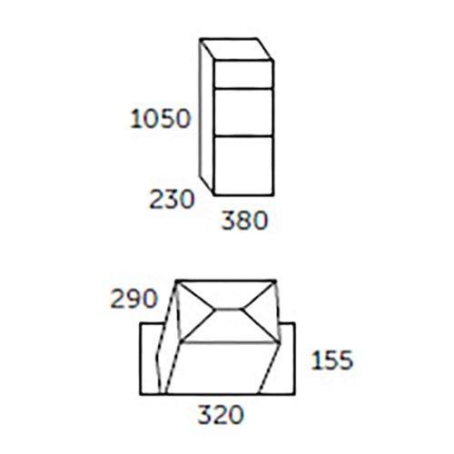 Buz/ón XXL de acero galvanizado Allux 600 Buz/ón de paqueter/ía F54610 acero galvanizado