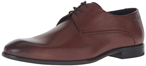 HUGO by Hugo Boss Men's Dress Appeal C-Dresios Calf Leather Lace up Derby Work Shoe, Medium Brown, 8.5 M - Hugo Uk Boss Shop