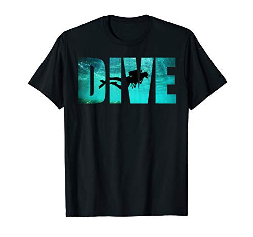 Scuba Diving: Divers Shadow Deep Swim T-Shirt Cool Gift ()
