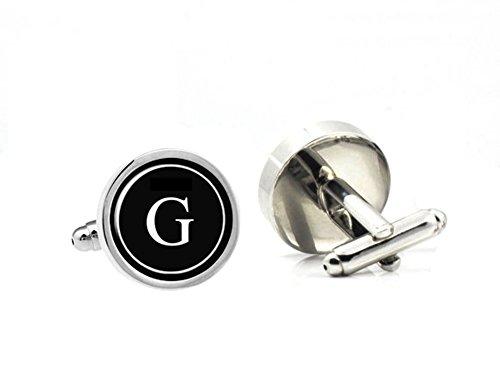 LBFEEL Monogram Cufflinks, Personalized Mens Cufflinks, Custom Initial Cufflinks / with Cufflink Box