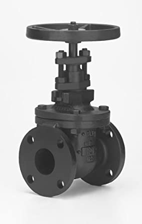 Milwaukee Valve 2882-M26 Series Iron Gate Valve, Class 125, Non-Rising Stem, Flanged