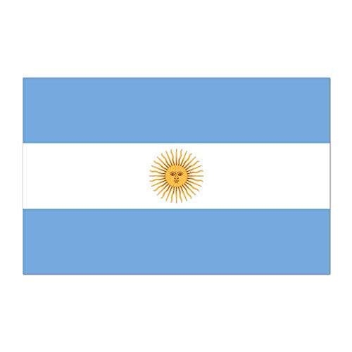 Argentine Republic Country Pride Flag Full Color - Vinyl Decal for 13