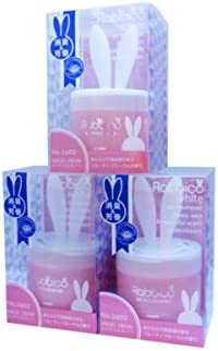 Diax Poppy Rabbico White Air Freshener and Deodorant 3 Packs Angel Snow Scent Lovely Ears Shape Beutiful/Elegant Soft Color