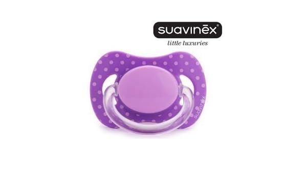 Suavinex - Chupete Basic Fisiologica Latex, 0M, Violeta Con ...