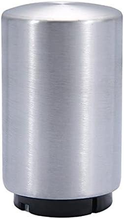 Fengcheng - Juego de 4 abridor automático para botellas de vino, cerveza, soda – Accesorio de cocina – Abrebotellas con pulsador (plata)