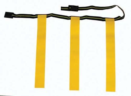 Olympia Sports Large Deluxe Rip Flags And Belt For Flag Football - 1 Dozen