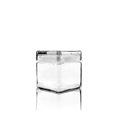 Anchor Hocking 85587R Stackable Square Jar