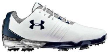 Under Armour Match Play Golf Shoes メンズ White / Steel アンダーアーマー マッチプレイ ゴルフシューズ [並行輸入品] B07BGY52CZ 27.5 cm
